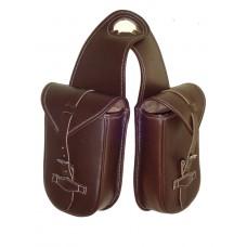 Western Horn Bag Oily Leather