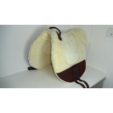 MInk bareback pad with suede wear leather