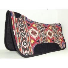 Navajo Fabric saddle pad with neoprene net lining