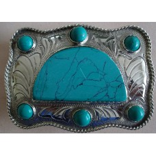 Western Belt buckle German Silver